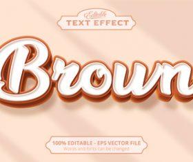 Brown text effect vector