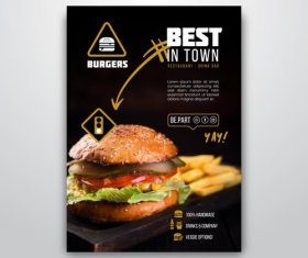 Burger Flyer Vector