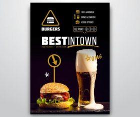 Burger shop flyer vector
