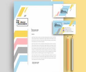 Business letterhead and business card vector