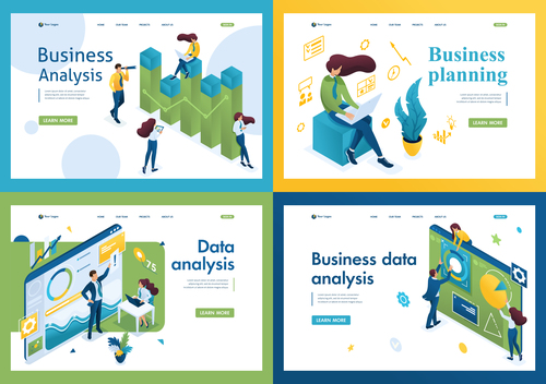 Business planning flat design vector