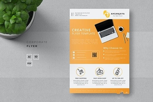Business solutions business flyer vector