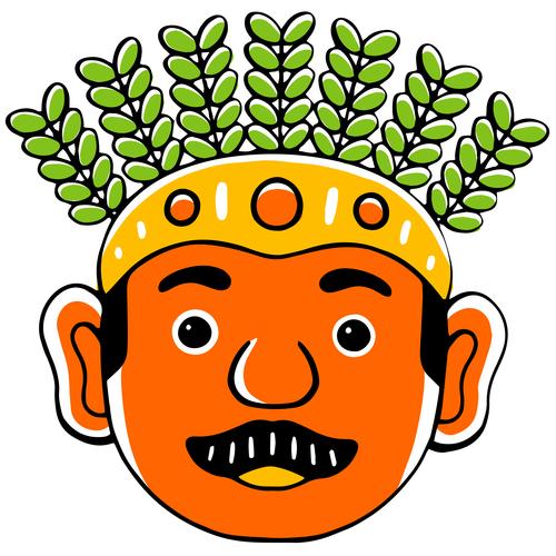 Cartoon character avatar vector