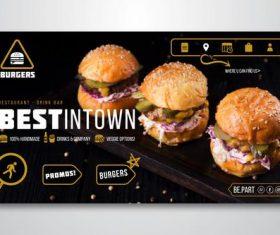 Cheeseburger flyer vector