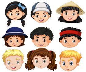 Child avatar cartoon vector