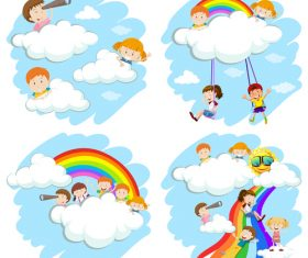 Children innocent dream cartoon vector