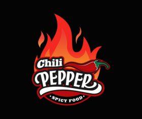 Chili pepper logo design vector