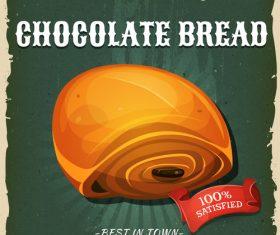 Chocolate bread flyer vector