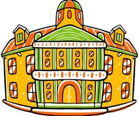 Cityscape icon vector