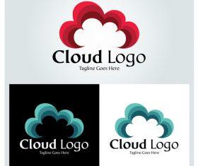 Cloud logo design vector