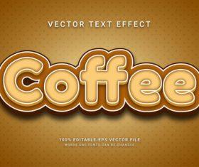 Coffee vector editable text effect