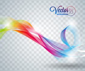 Color abstract line background vector