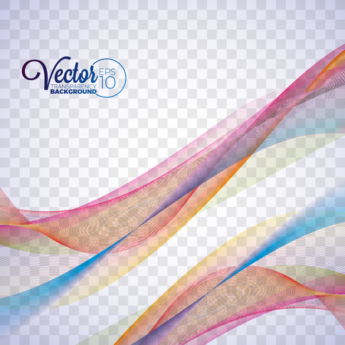 Colorful abstract background lines vector