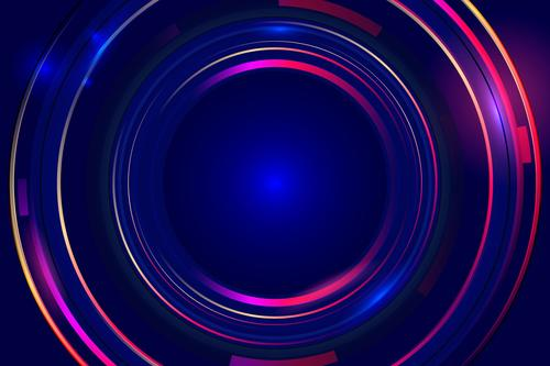 Colorful circles abstract background vector