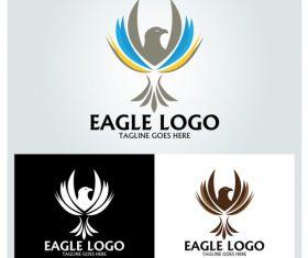 Colorful eagle logo design vector