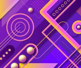 Colorful geometric abstract background vector