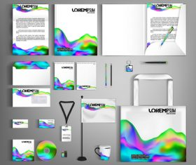 Colorful pattern background business template vector