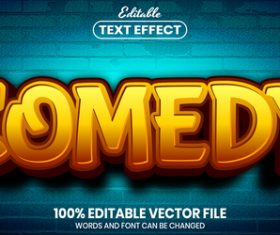 Comedy text font style vector