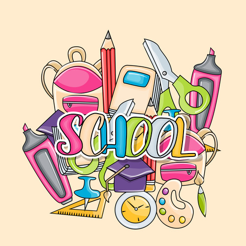 Comic sticker welcome back to school vector