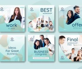 Corporate promotion banner vector