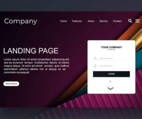 Corporate website landing page vector