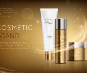 Cosmetic brand advertising vector