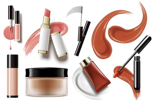 Cosmetics background vector