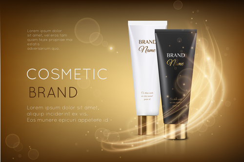Cover cosmetic advertisement vector