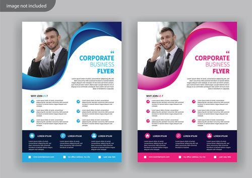 Cover version business flyer vector