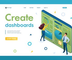 Create dashboards graphic design vector