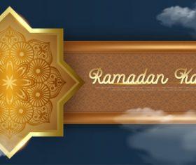 Creative Islamic style card vector
