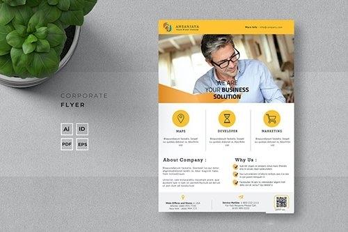 Creative flyer template vector