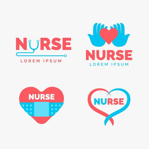 Creative health logo design vector