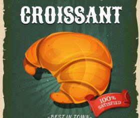 Croissant flyer vector