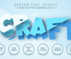 Cut layer vector text effect
