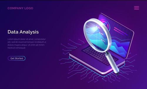 Data analysis card vector