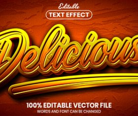 Delicious text font style vector