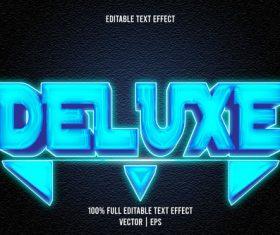 Deluxe editable text effect 3D emboss modern style vector