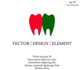 Dental icon logo design vector