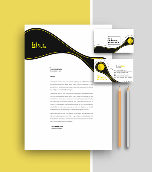 Design business letterhead and business card vector