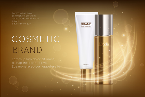 Design cover cosmetic advertising vector