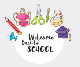 Design welcome back to school vector