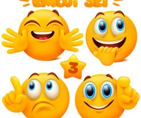 Different emoticon set vector