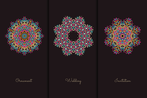 Different meanings mandala pattern vector
