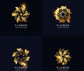 Different shape flower logo vector