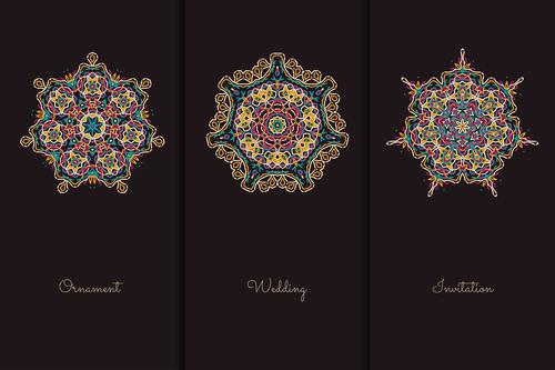Different shapes mandala pattern vector