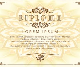 Diploma design template with thai design elements vector