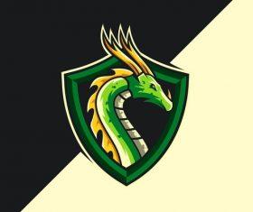 Dragon company logo vector