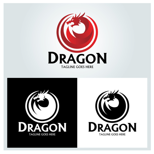 Dragon logo design vector