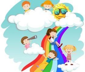 Dream cartoon vector